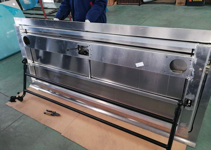 Aluminum Panel Bus Luggage Door Mechanism Steady Movements For City Bus